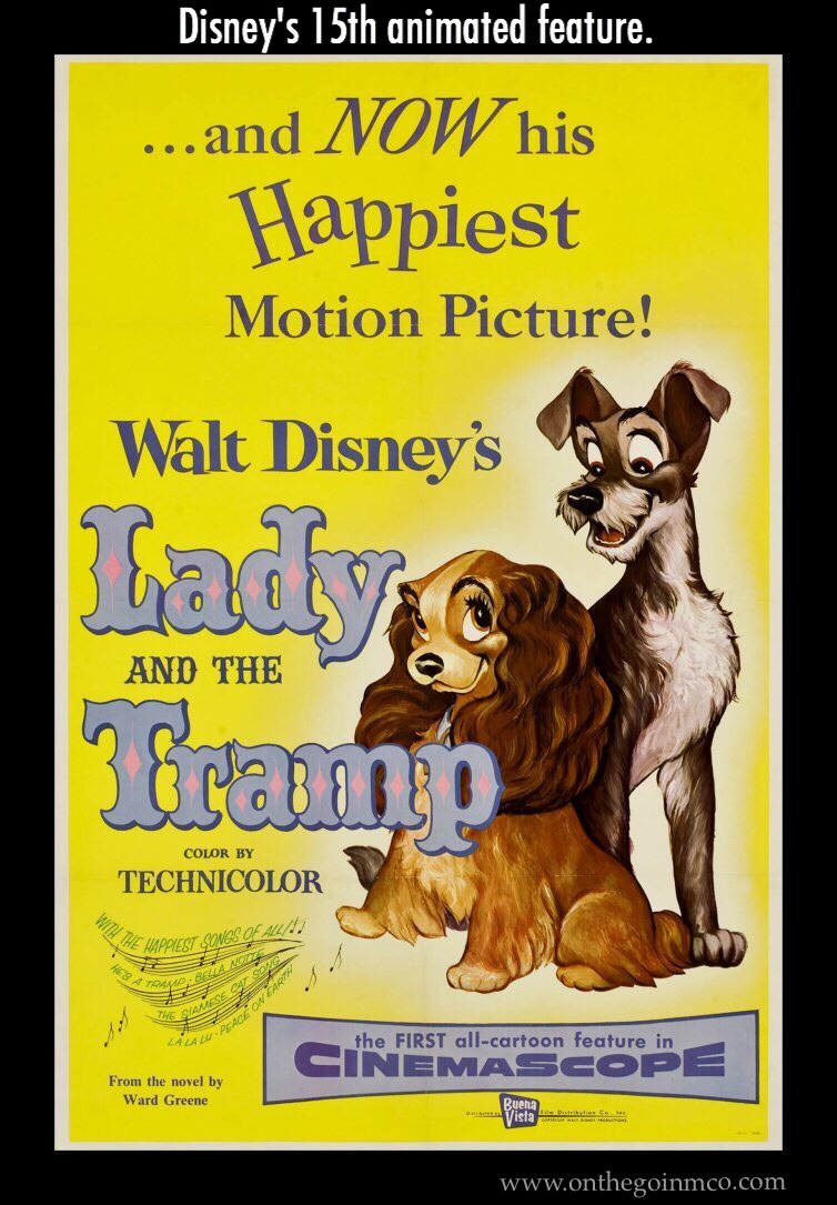 Fun Facts Lady and the Tramp D23 Fanniversary Home Edition Movie Poster