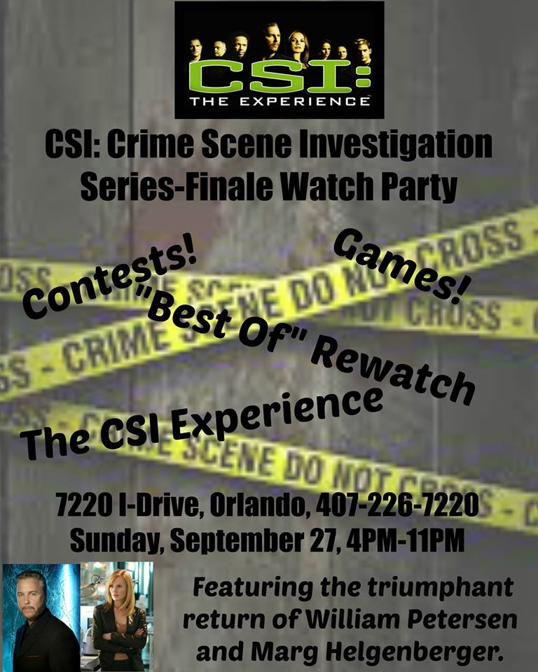 CSI Experience Final Watch Party Poster