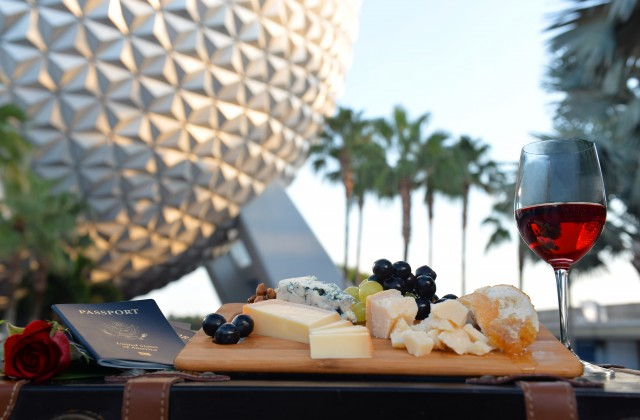 Epcot Food and Wine - Food and Wine with Spaceship Earth