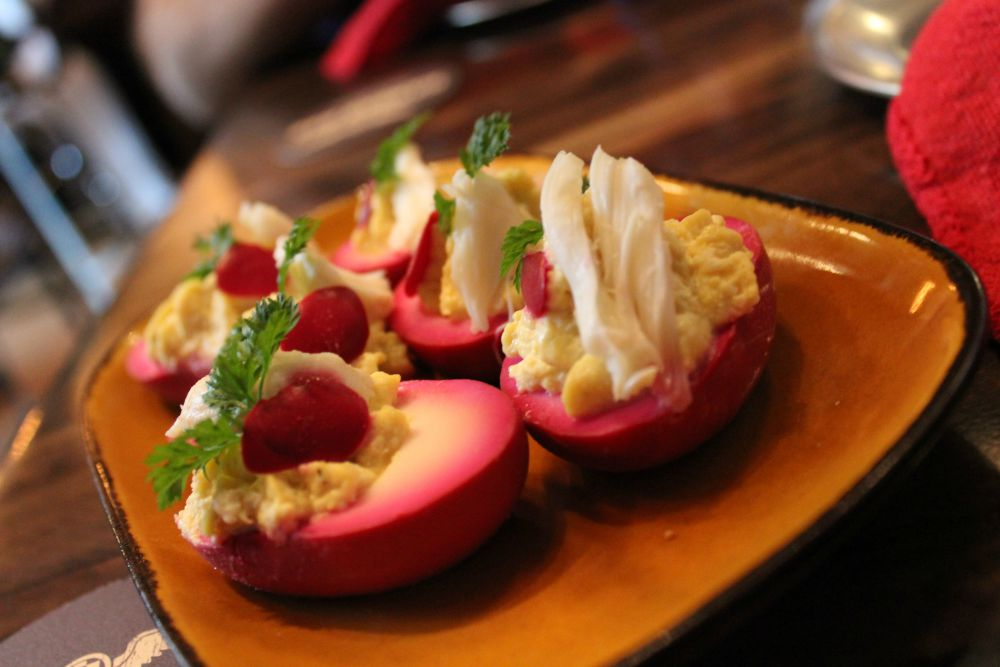Jock Lindsey's Hangar Bar - Dr Elisa's She-Deviled Eggs Alone