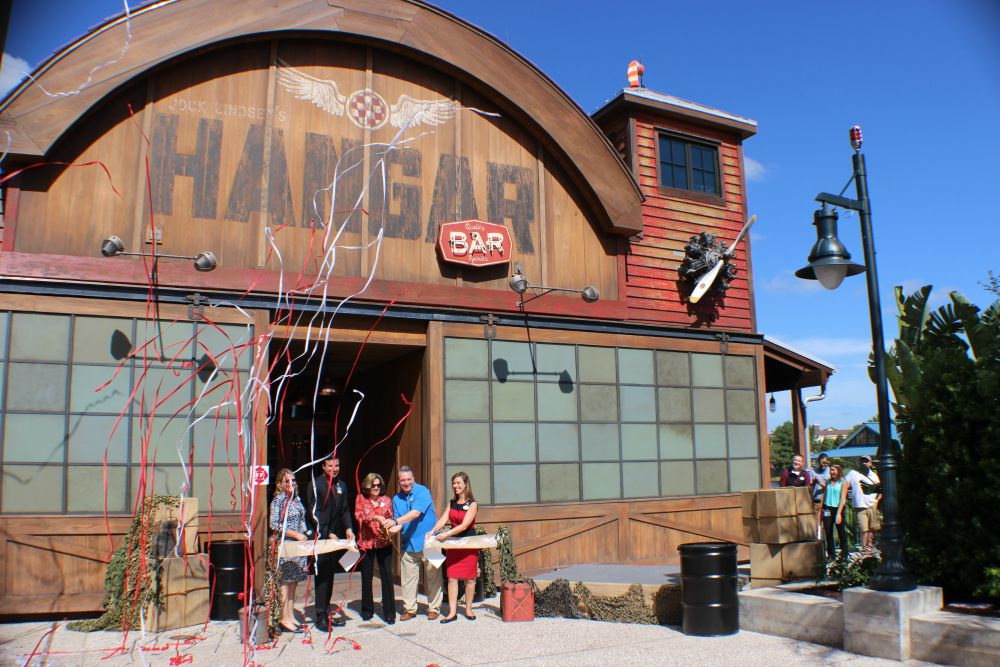 Jock Lindsey's Hangar Bar - Ribbon Cutting