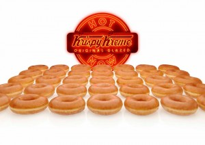 Krispy Kreme Hot Light and Original Glazed Doughnuts