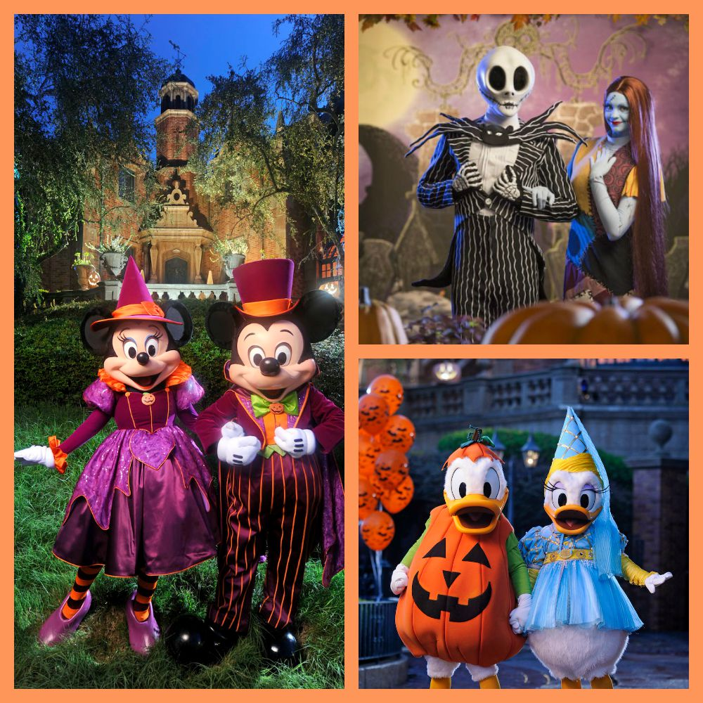 Mickeys Not So Scary Halloween Party Character Collage