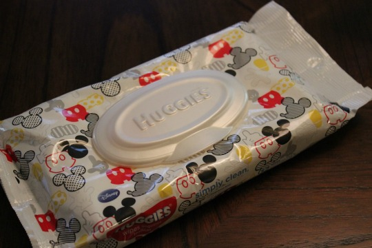 Packing a Mickey's Not So Scary Halloween Party Bag - Wipes