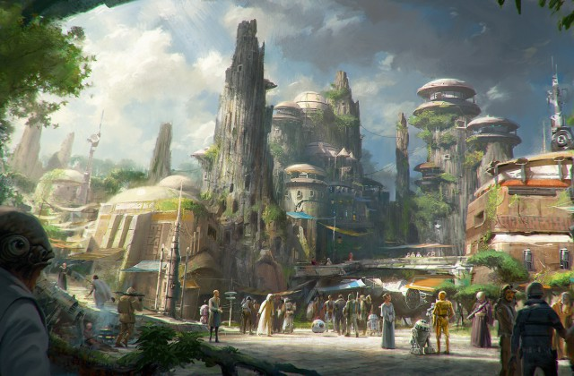 Star Wars Land Expansion from a distance