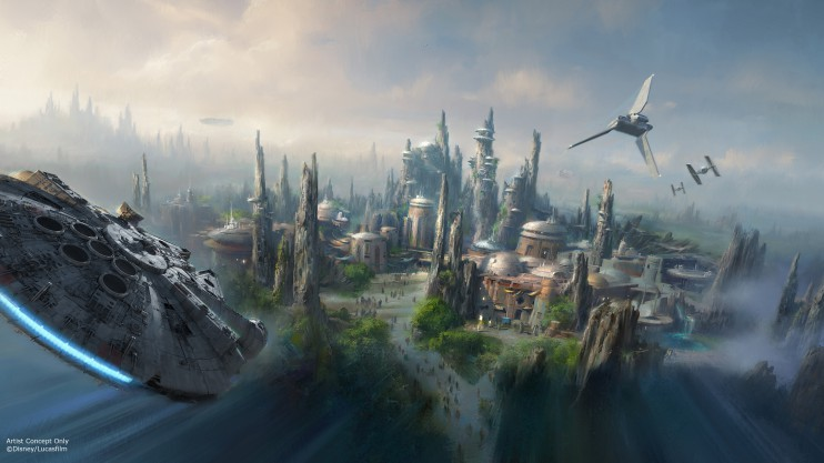 Star Wars Land Flying Millenium Falcon