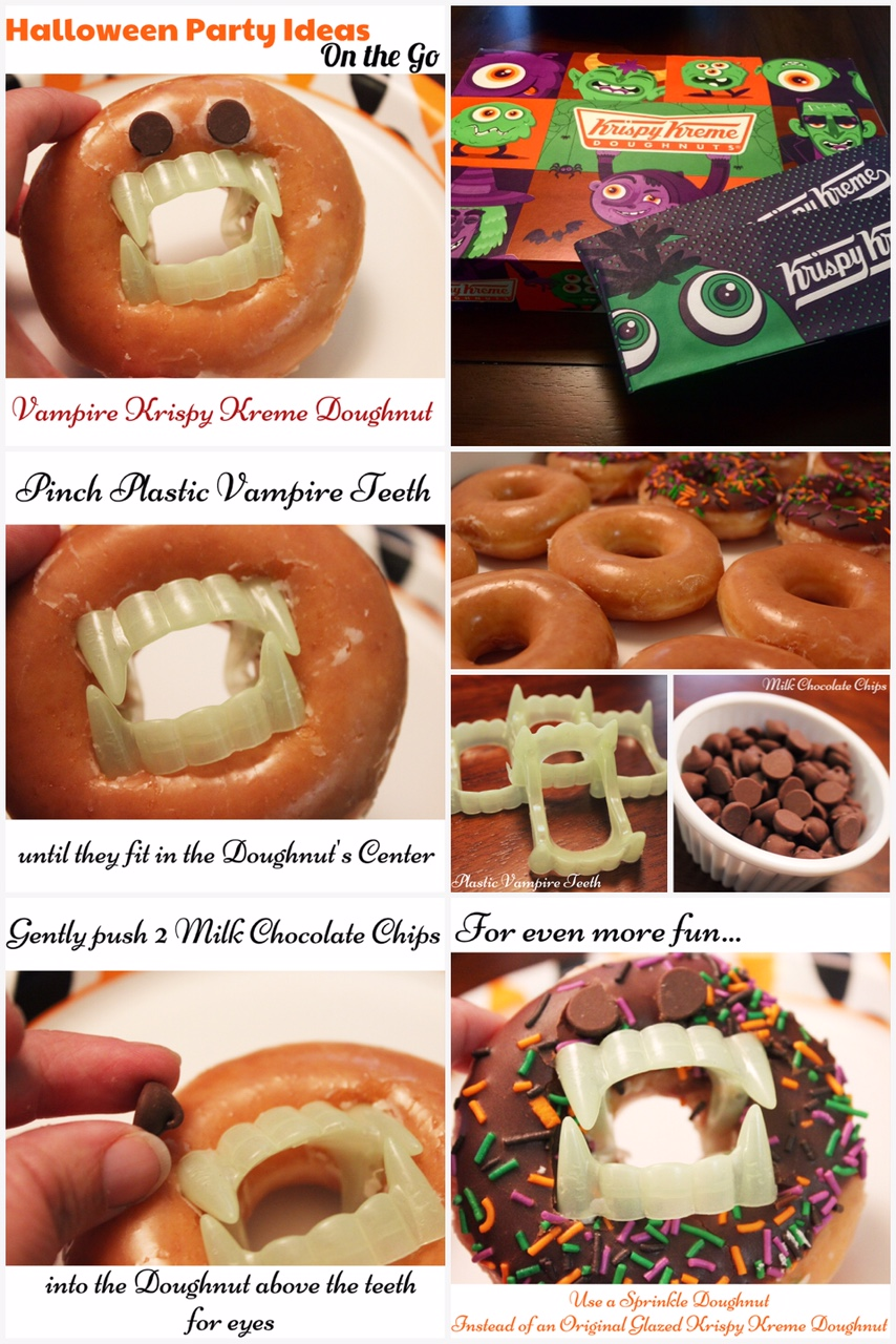 Halloween Party Ideas On the Go Vampire Krispy Kreme Doughnuts