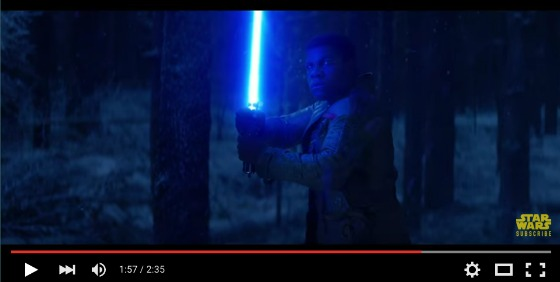 Star Wars The Force Awakens Trailer - Finn Lightsaber