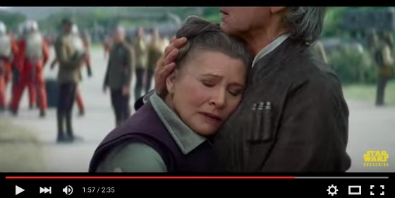 Star Wars The Force Awakens Trailer - Han and Leia embrace