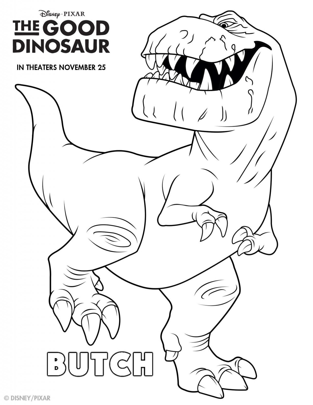 The Good Dinosaur Coloring Pages Page 002 On The Go In Mco