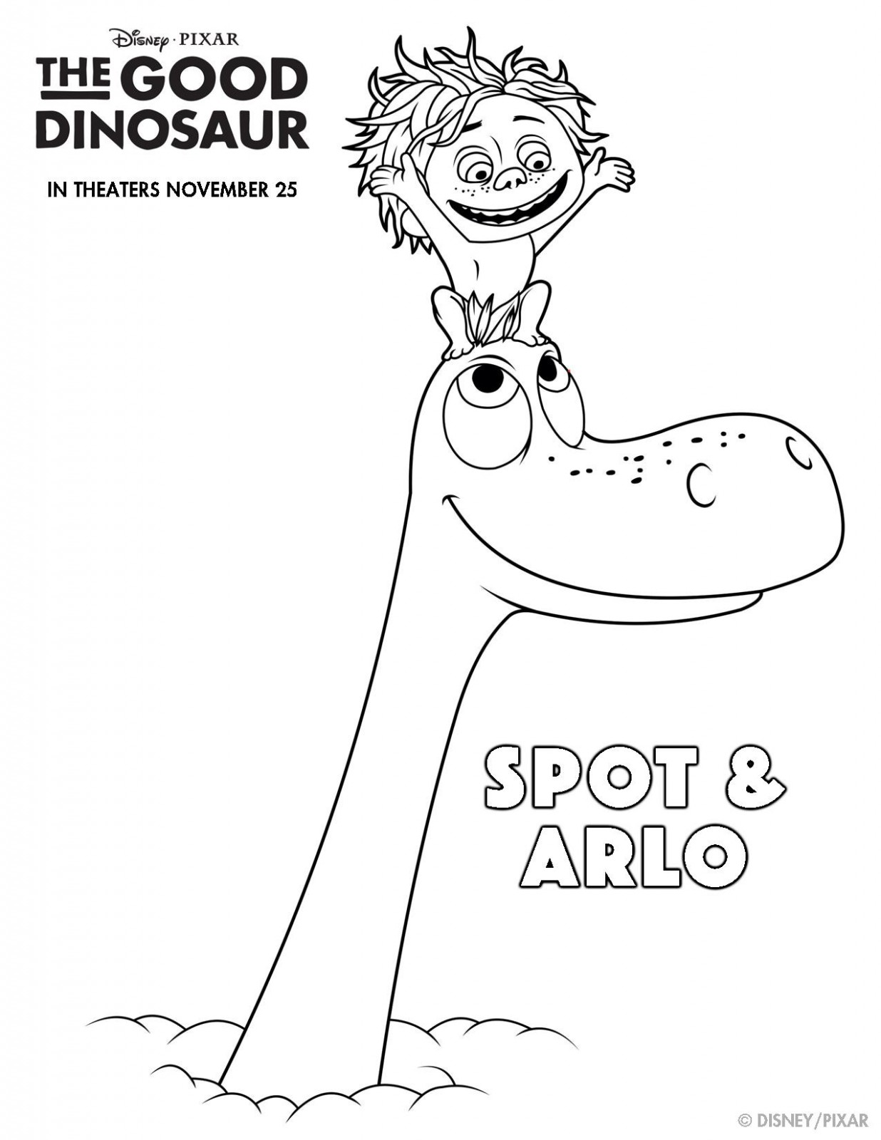 The Good Dinosaur Coloring Pages Page 005