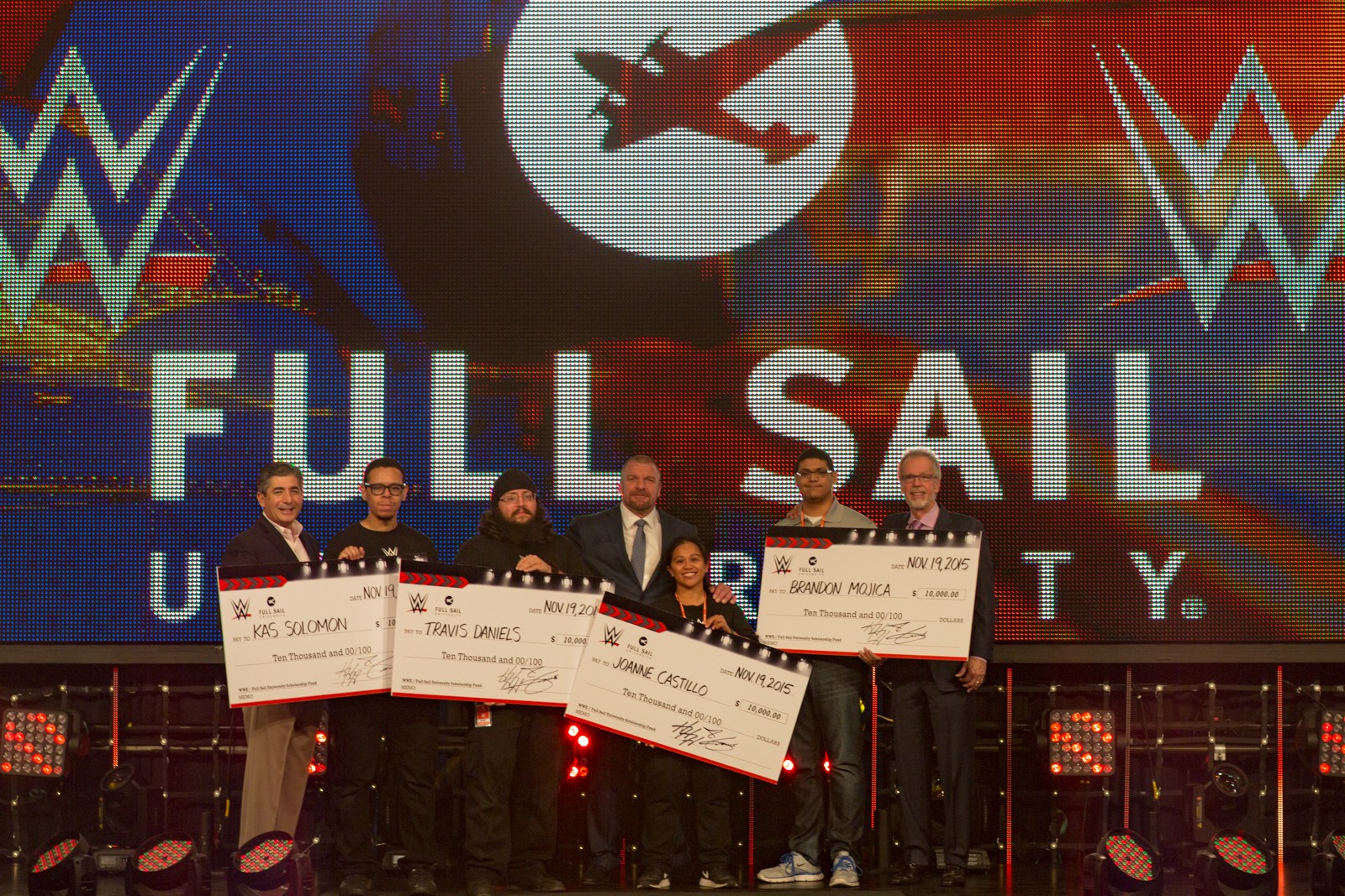 WWE Awards $180,000 in Scholarships to Full Sail University Students