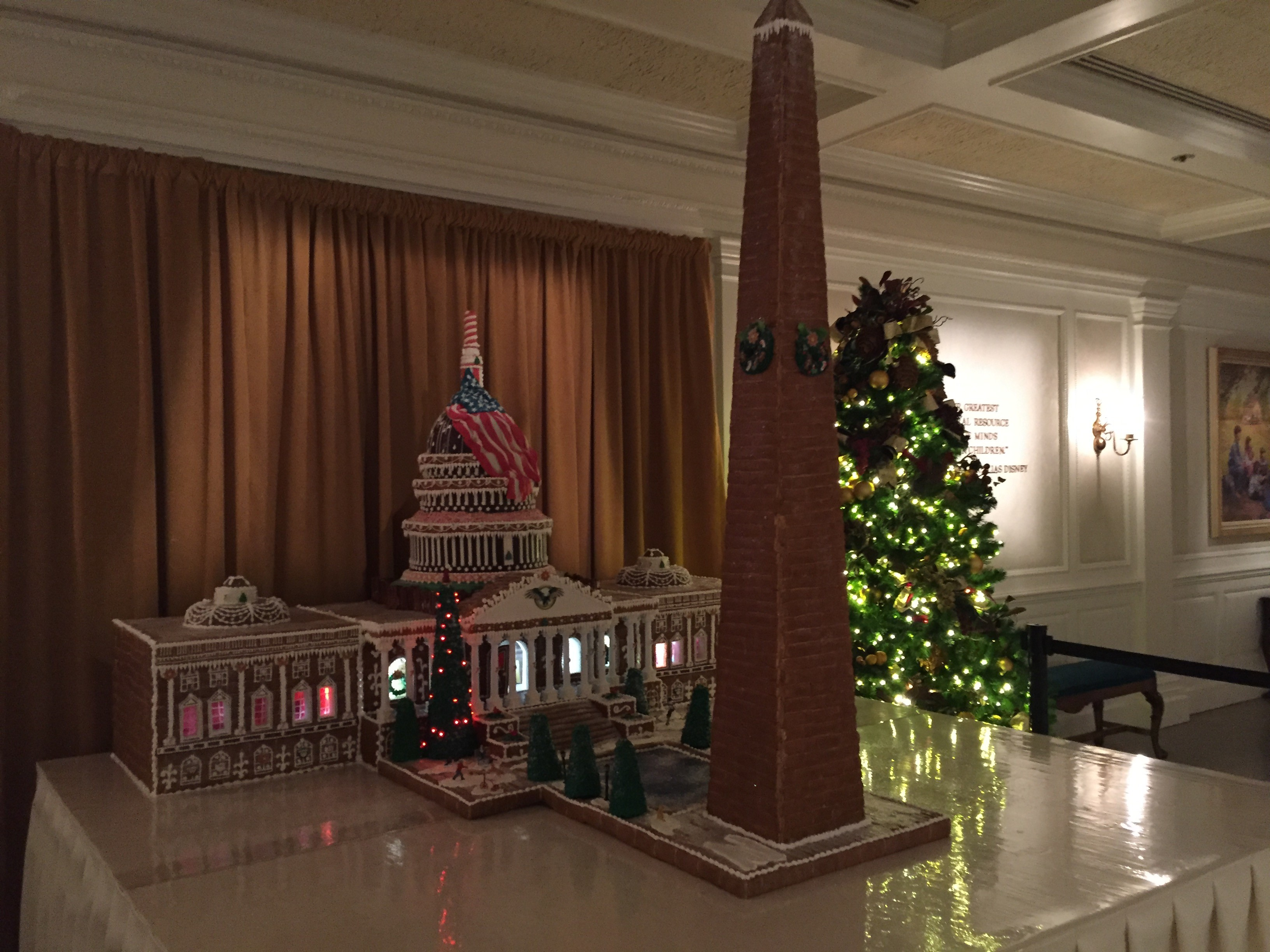 Gingerbread Capitol and Washington Monument