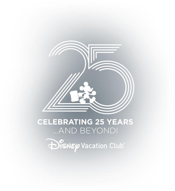 Disney Vacation Club DVC 25th Anniversary Logo