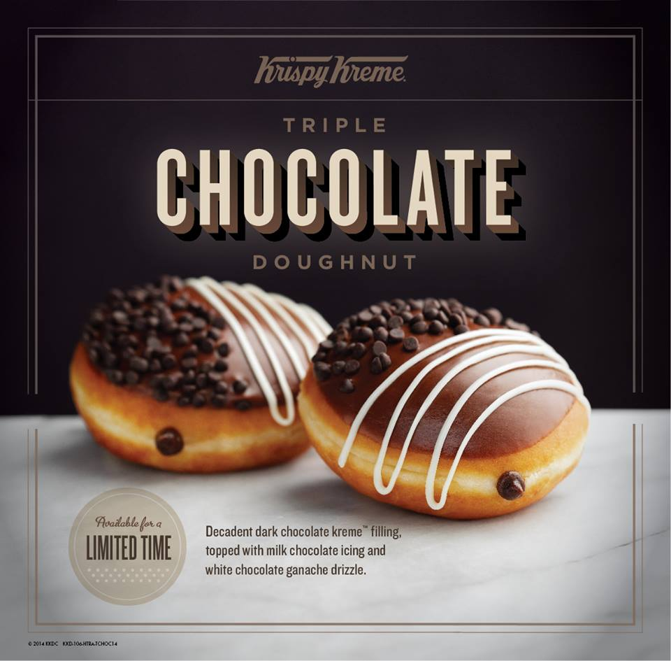 Krispy Kreme Triple Chocolate Doughnut