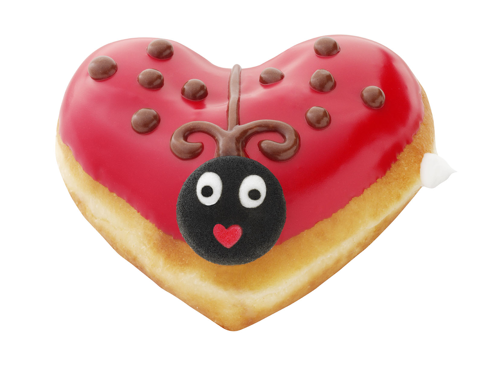 Valentine's Day  LUV Bug at Krispy Kreme