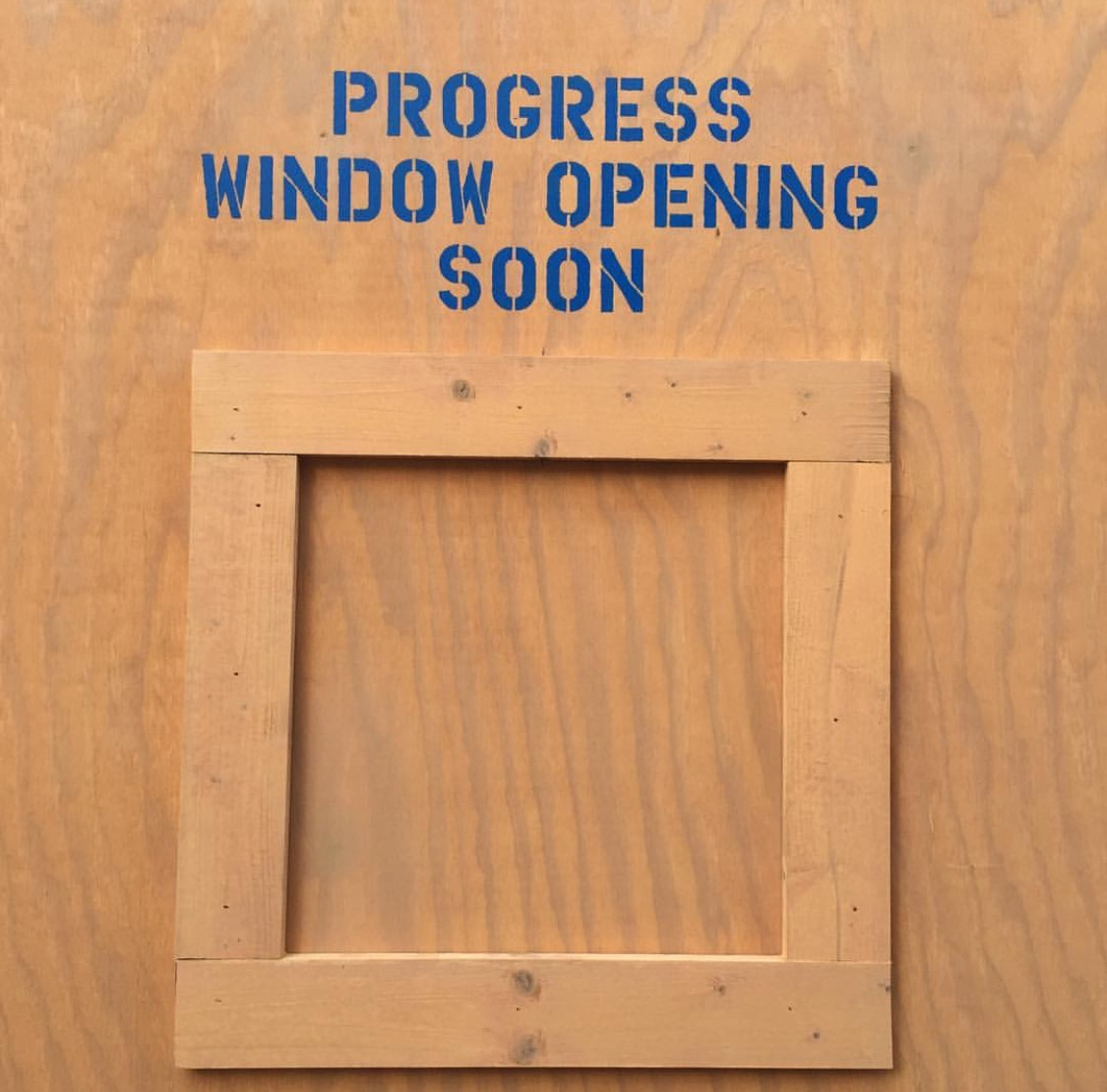 Wordless Wednesday: Window To Progress Disney's Hollywood Studios