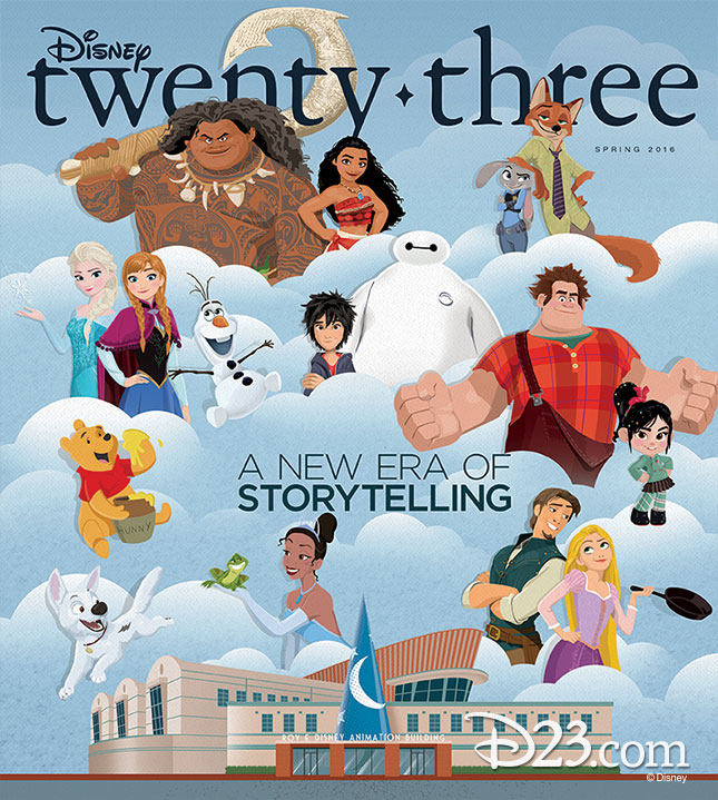 Disney Twenty-Three D23 Spring 2016 Cover