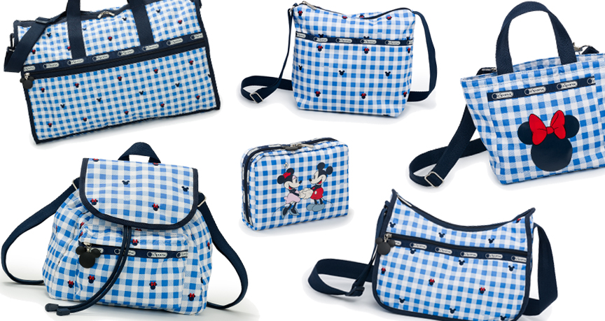 LeSportsac Spring 2016 Disney - Blue Check Patterns