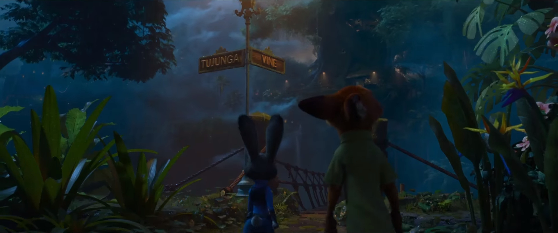 Zootopia easter egg Tujunga and Vine