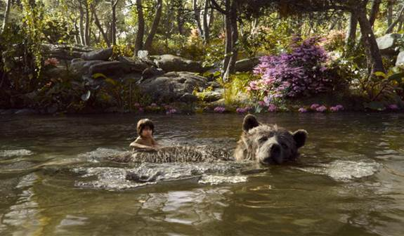 The Jungle Book Swimming with Baloo