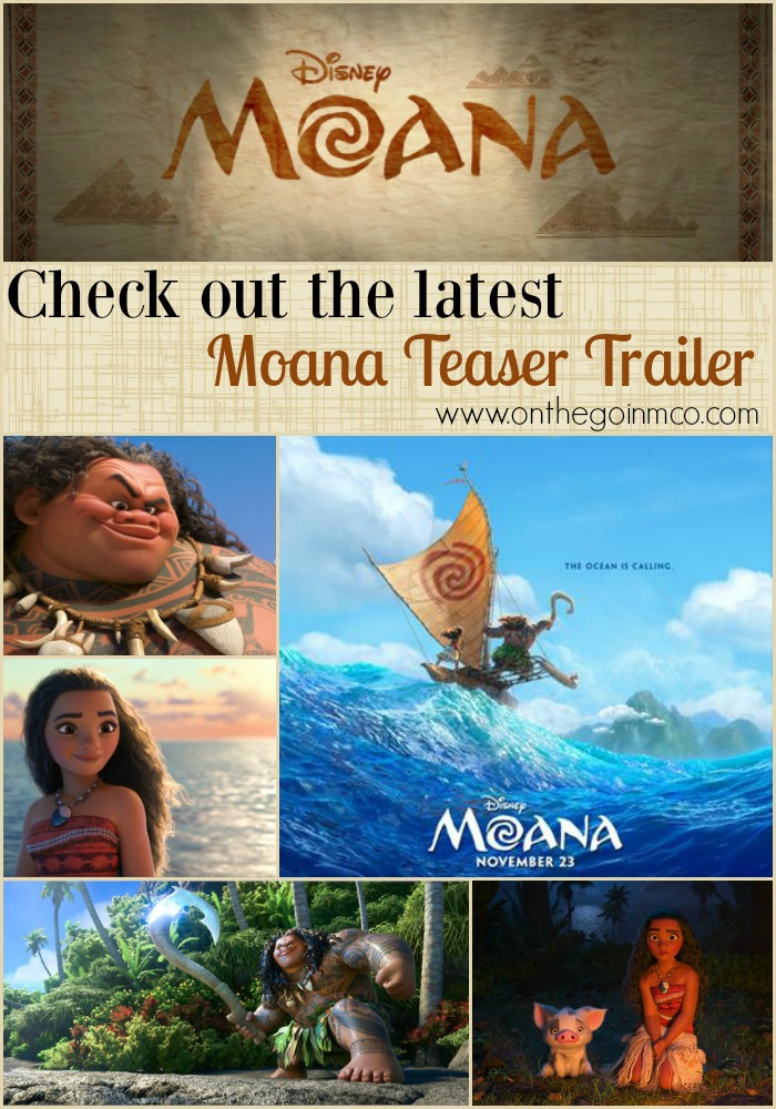 Moana Teaser Trailer Collage