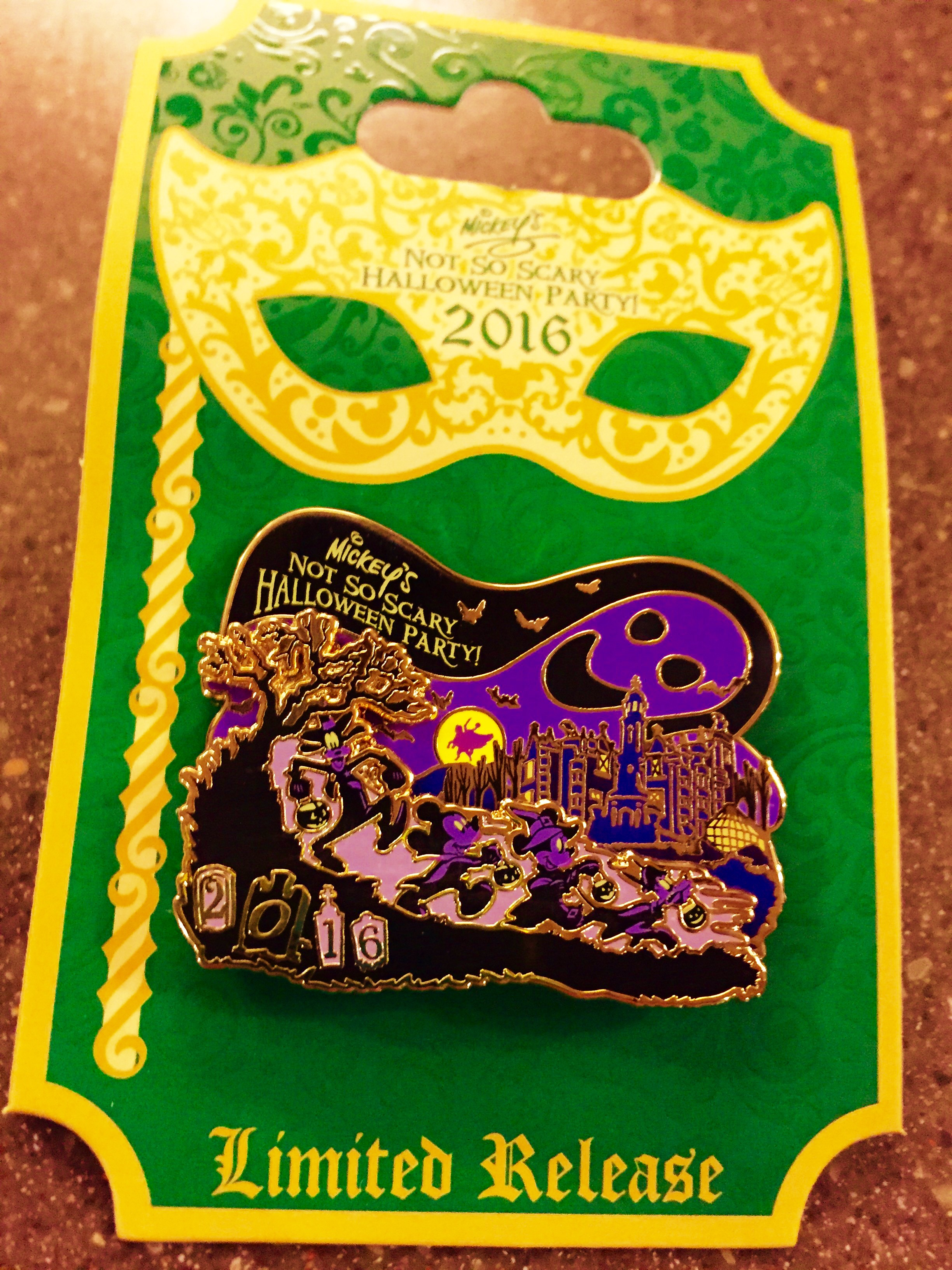 Mickey's Not So Scary Halloween 2016 Party exclusive pin