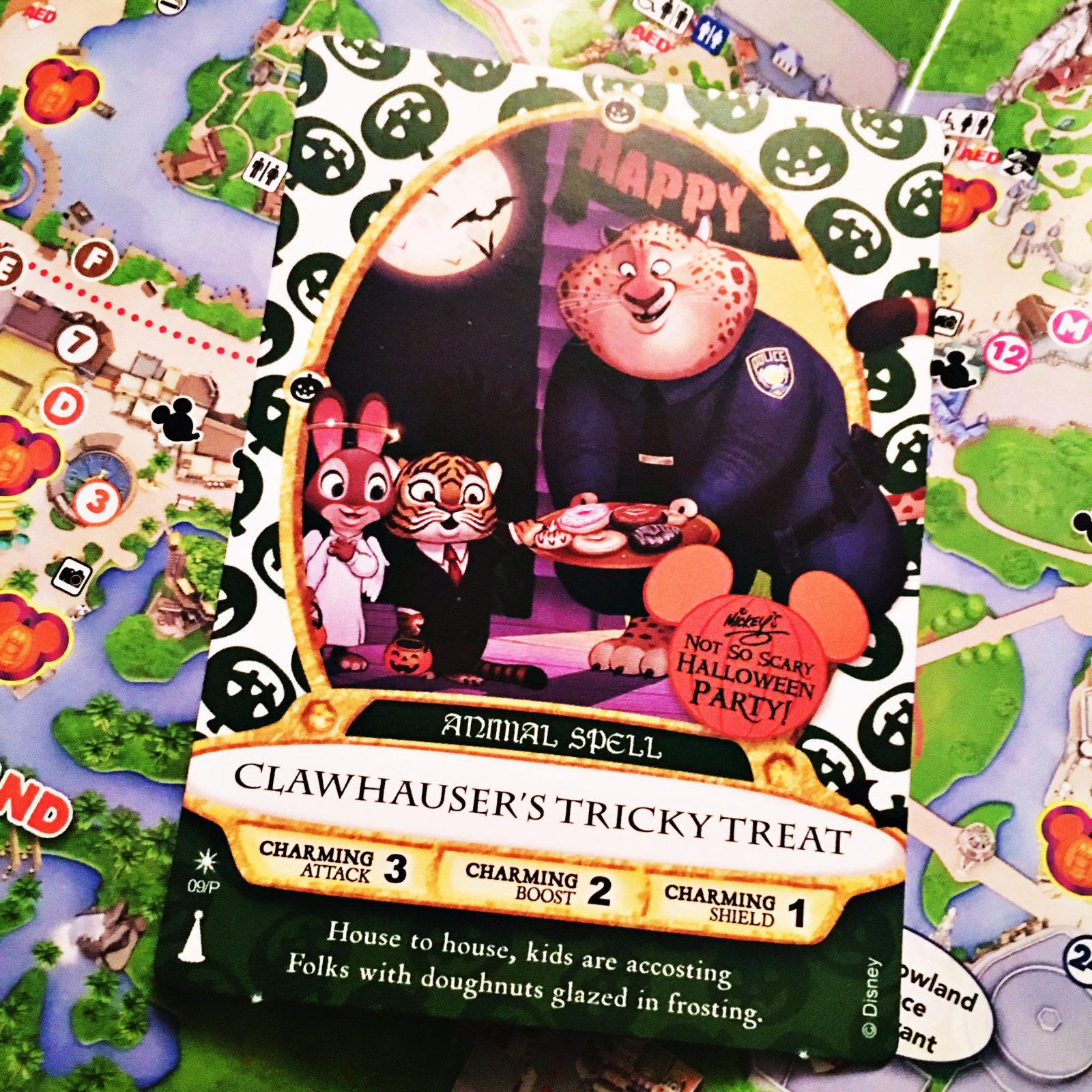 Mickey's Not So Scary Halloween Party 2016 - Party Highlights - Sorcerers Card and map