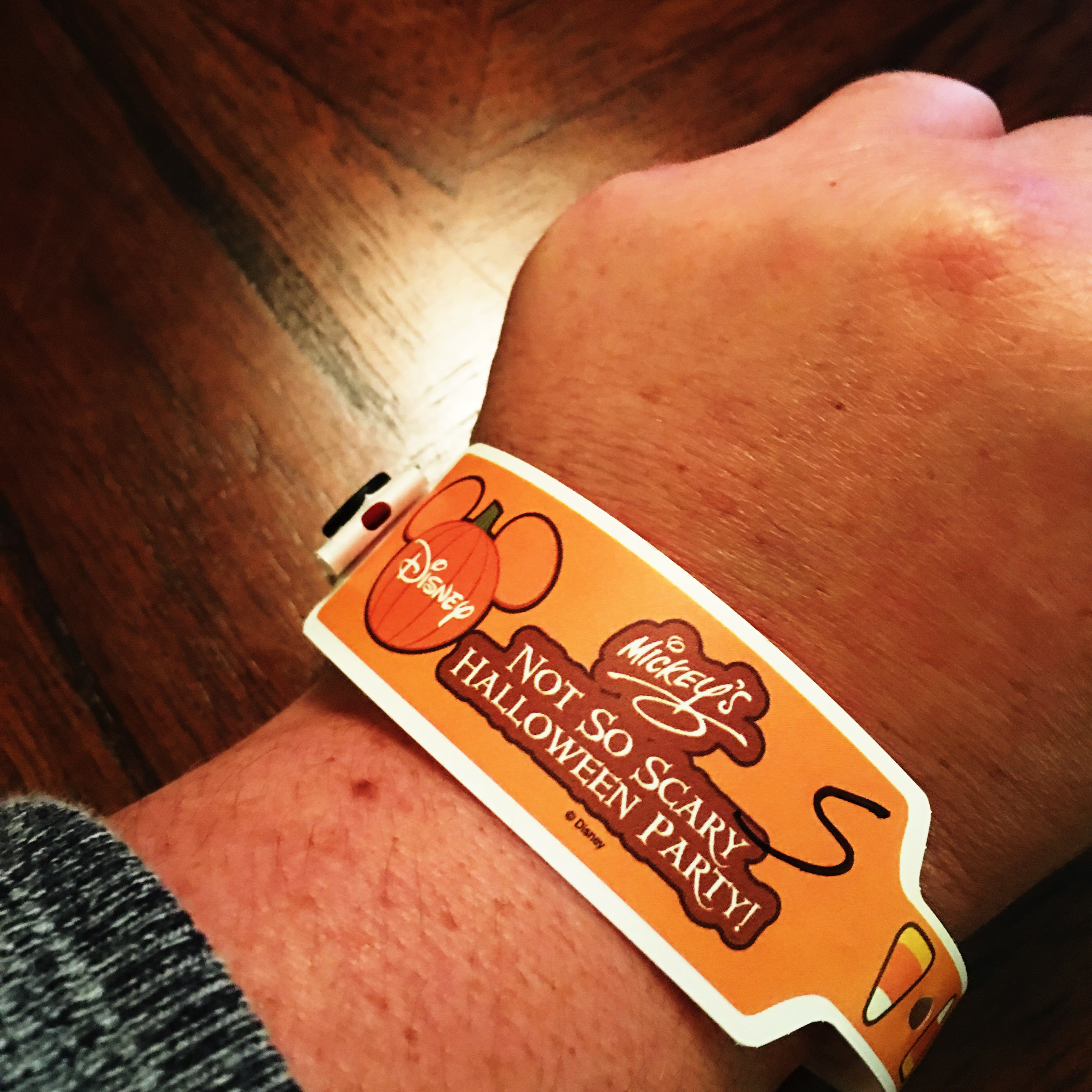 Mickey's Not So Scary Halloween Party 2016 Wristband