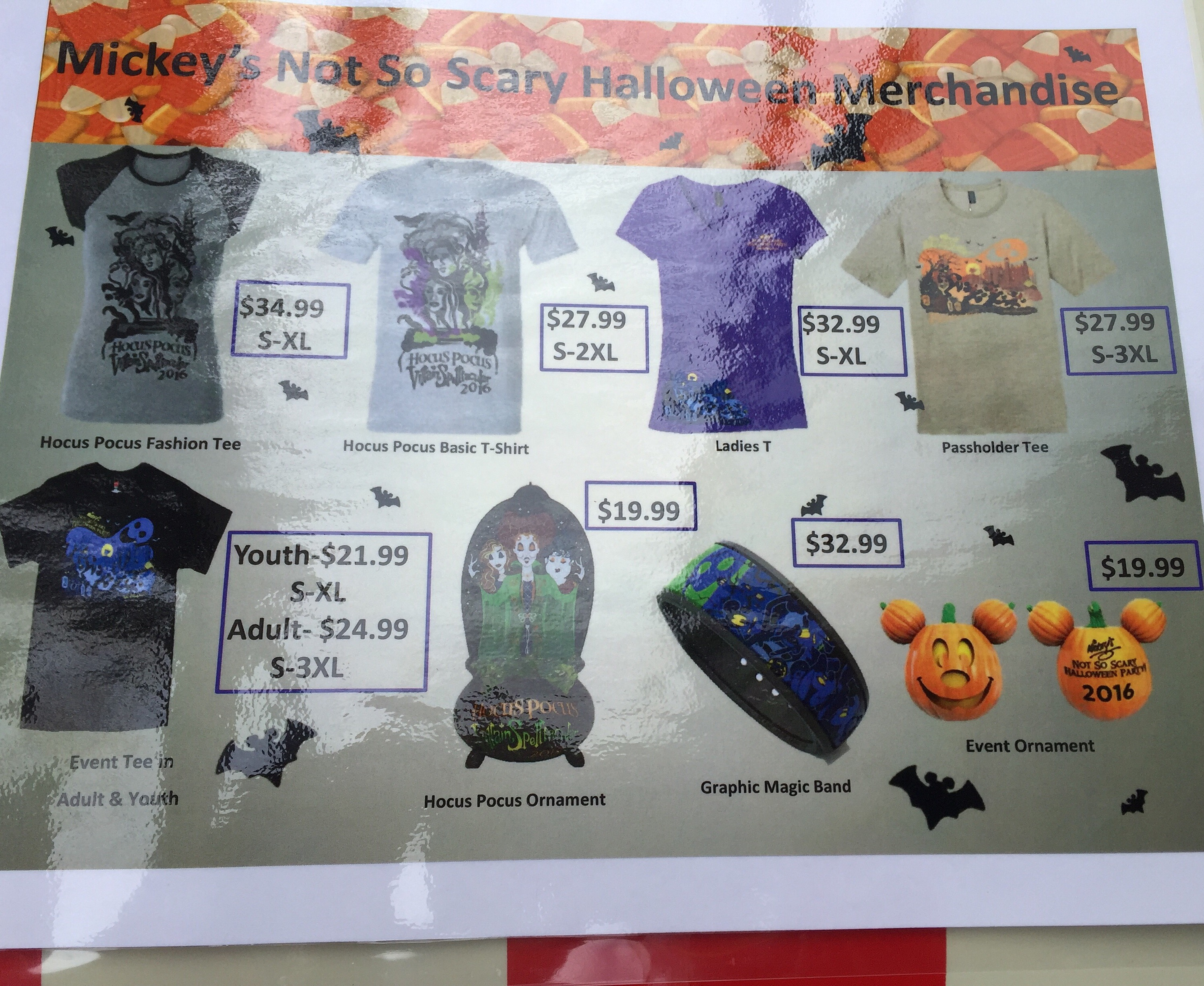 Mickey's Not So Scary Halloween Party 2016 Merchandise