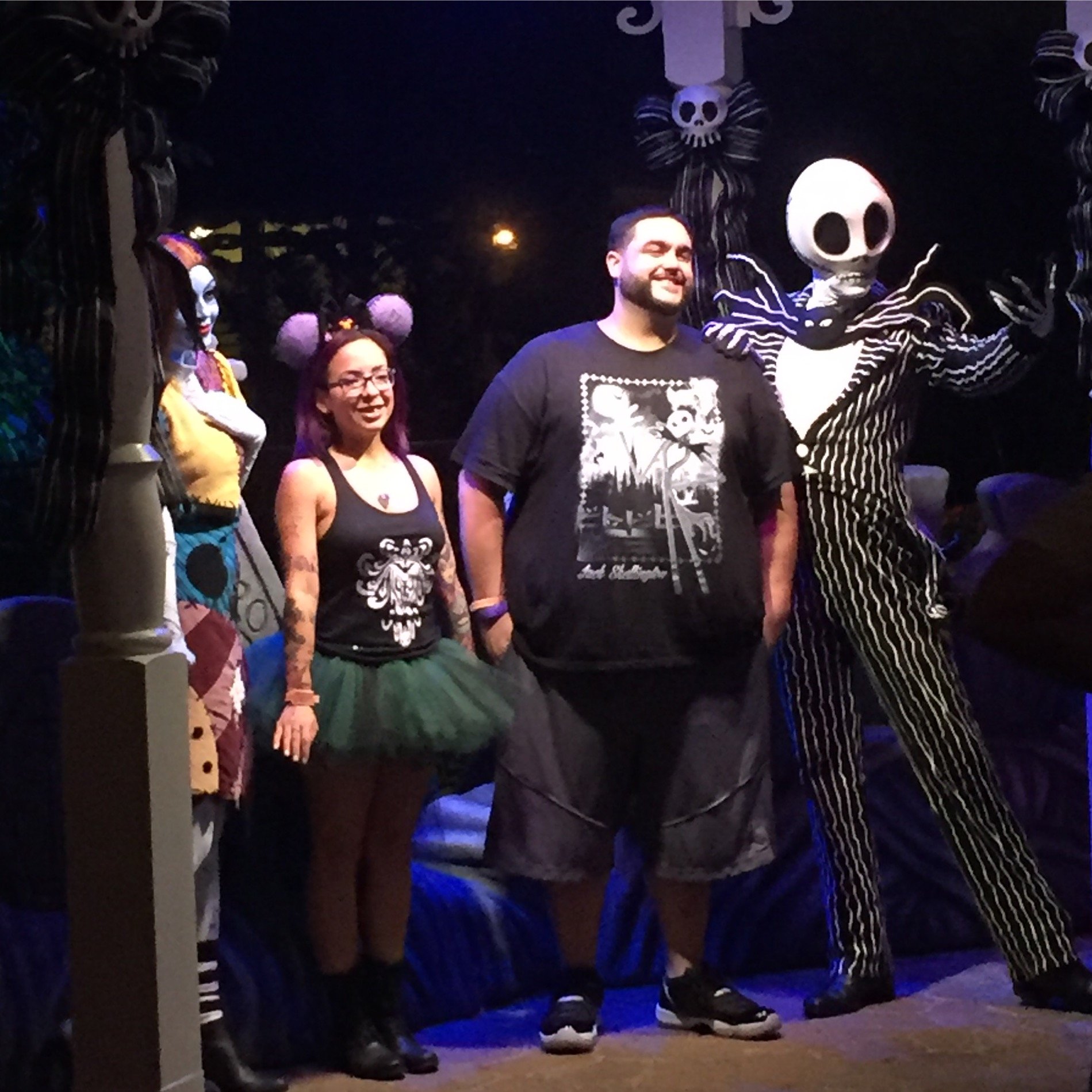 Mickey's Not So Scary halloween party 2016 characters meet and greet jack skellington and sally