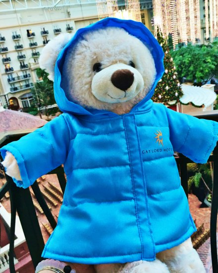 Gaylord Palms ICE 2016 - Build a Bear with blue parka