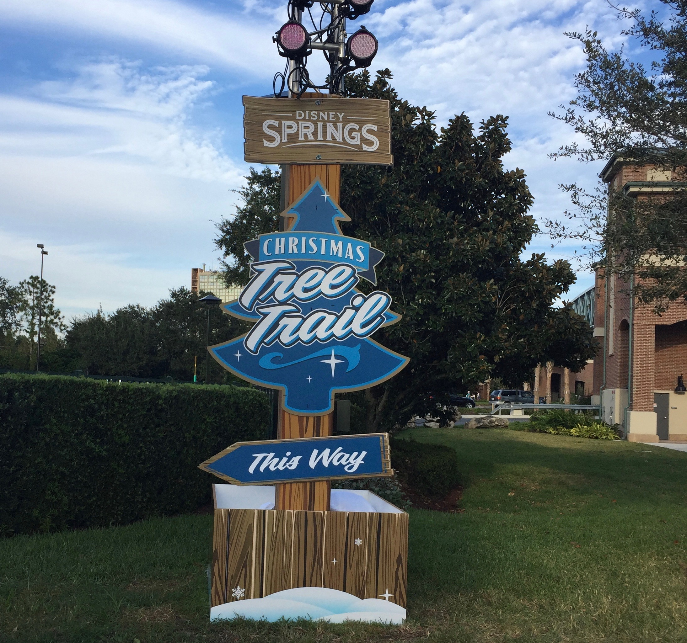 A Stroll Down Disney Springs Christmas Tree Trail