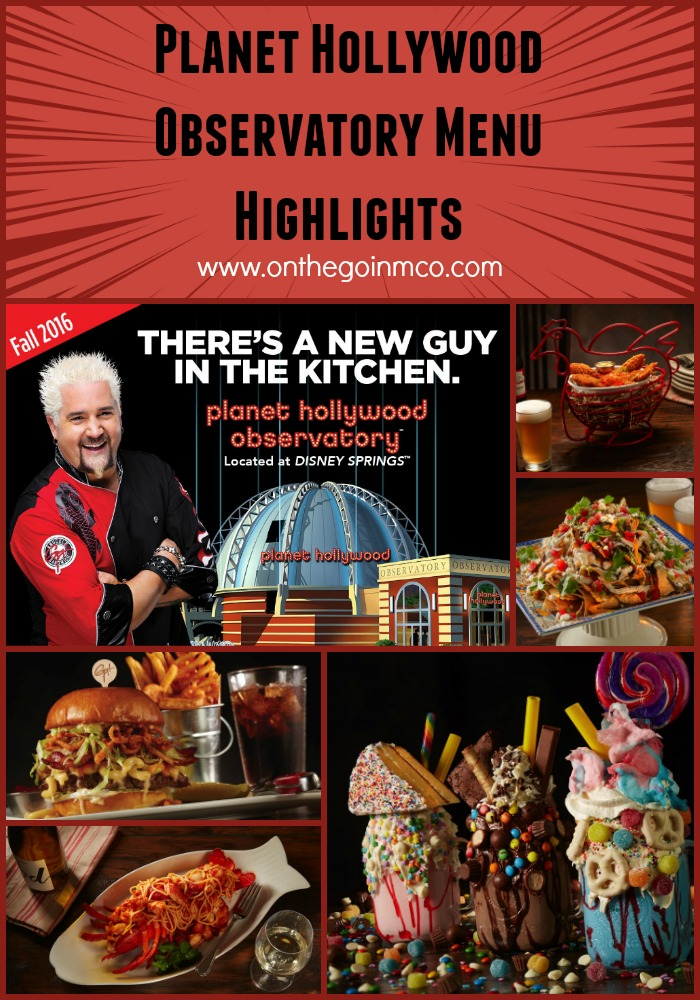 Planet Hollywood Observatory Menu Highlights Disney Springs