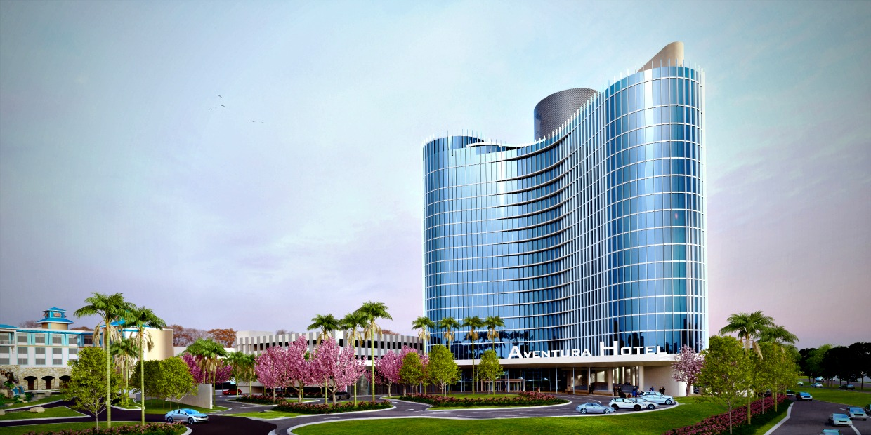 Universal's Aventura Hotel Entry Level Rendering