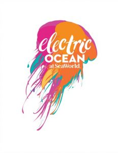 2017 SeaWorld Orlando Electric Ocean Logo