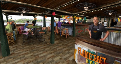 2017 SeaWorld Orlando flamecraft bar interior
