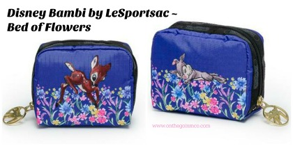 Disney Bambi by LeSportsac Bed of Flowers collage
