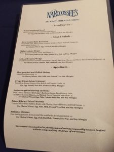 Dining with a Food Allergy at Walt Disney World Narcoossee's Allergy Menu