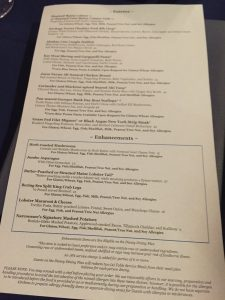 Dining with a Food Allergy at Walt Disney World Narcoossee's Allergy Menu Back 2016