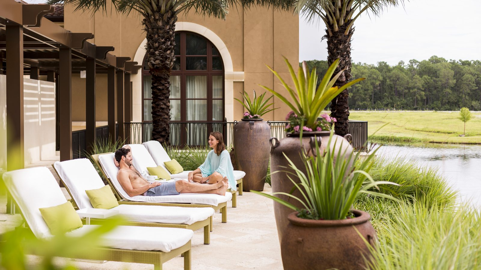 Outdoor lounges Four Seasons Resort Orlando at Walt Disney World