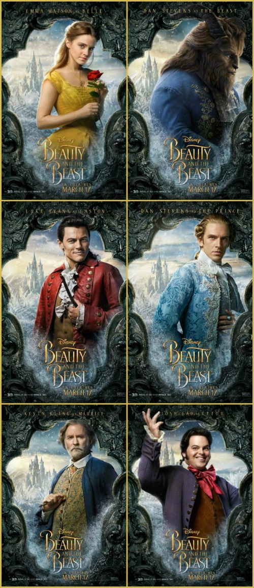 Walt Disney Studios Movie Round Up 1 26 2017 Beauty And The Beast Character Posters