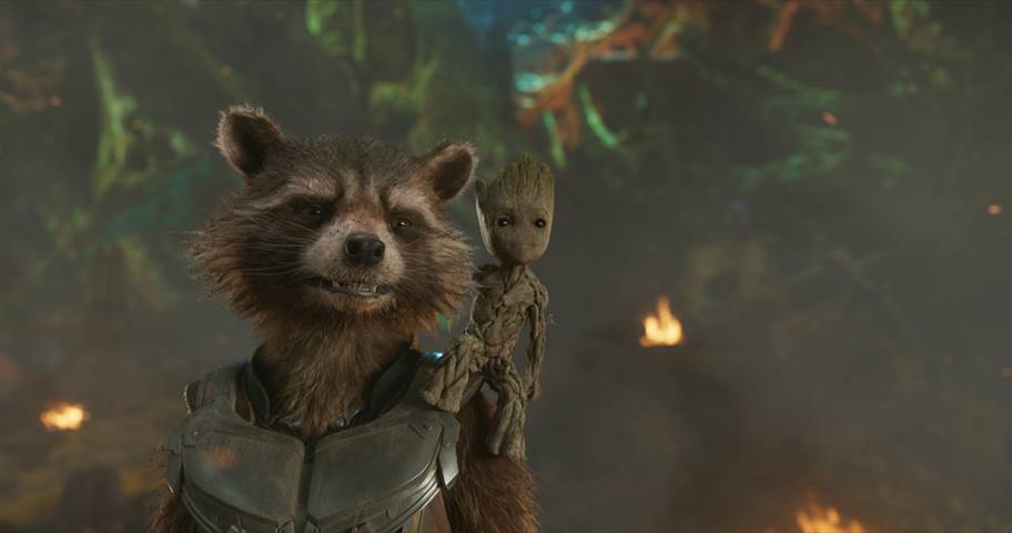 Guardians of the Galaxy Vol. 2 Disney Movie News February 7 2017 Super Bowl 51 Marvel Studios Trailer Image Rocket Baby Groot