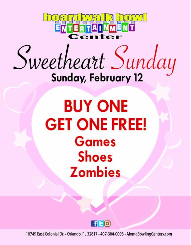 Aloma Bowling Centers Valentine's Day Offer 2017