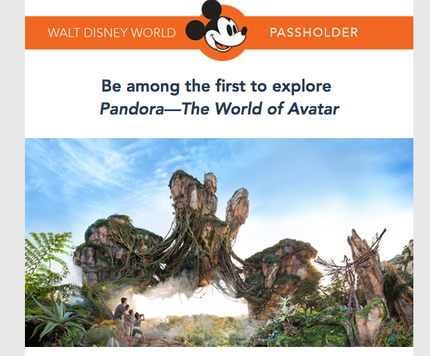 Pandora World of Avatar Walt Disney World Annual Passholder Screenshot March 23 2017