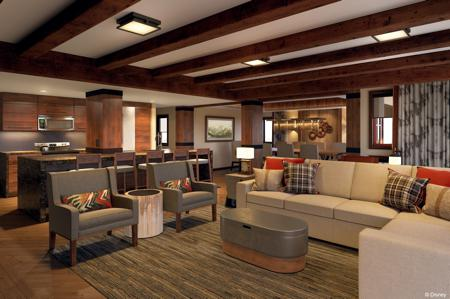 DVC Copper Creek Villas and Cabins Grand Villa Interior Living Room Rendering