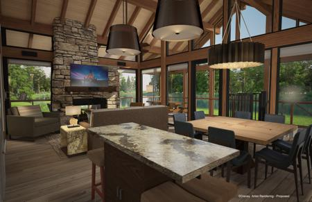 DVC Copper Creek Villas and Cabins Waterfront Cabin Interior Rendering