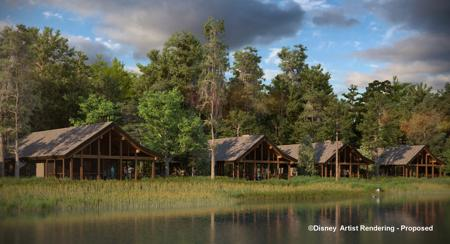 DVC Copper Creek Villas and Cabins Waterfront Cabins Exterior Rendering