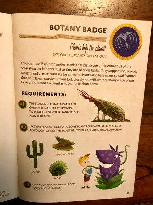 Experiencing Pandora The World of Avatar - Wilderness Explorers Badges - Botany Badge Overview