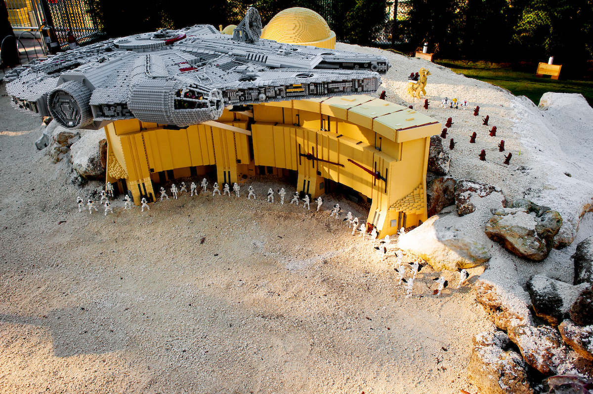 LEGOLAND Florida Resort LEGO Star Wars Days 2017 MINILAND USA Star Wars millennium falcon